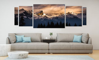Vente Tableau photo montagne 3D